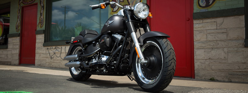 Обои на рабочий стол мотоцикл Harley-Davidson Softail Fat Boy Lo - 2016 - Motorcycles wallpapers